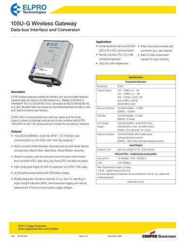 105U-G Wireless Gateway
