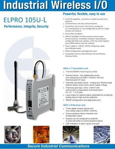 105U-L-T/R Wireless One-Way I/O