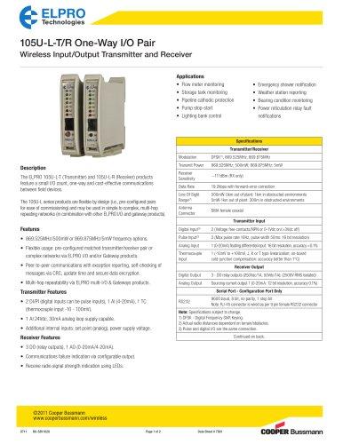 105U-L Wireless Input/Output Transmitter and Receiver