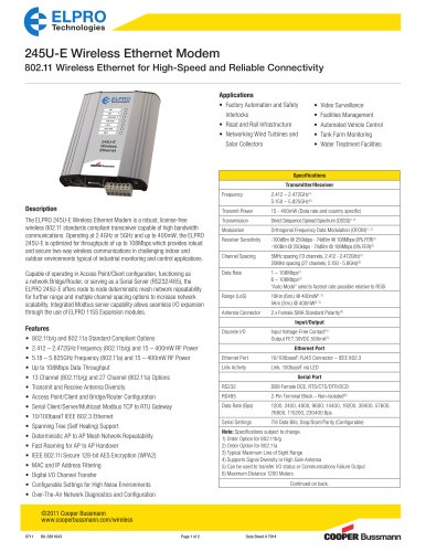 245U-E Wireless Ethernet