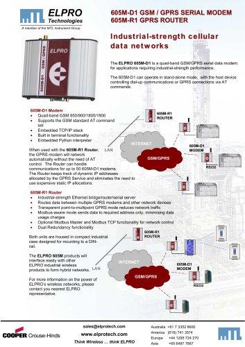 605M-D1 GSM / GPRS SERIAL MODEM / 605M-R1 GPRS ROUTER