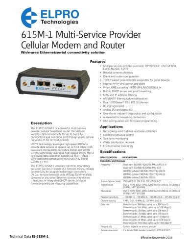 615M-1 Wireless Cellular Modem & IP Router