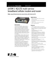645M-1 4G/LTE multi-service broadband cellular modem and router