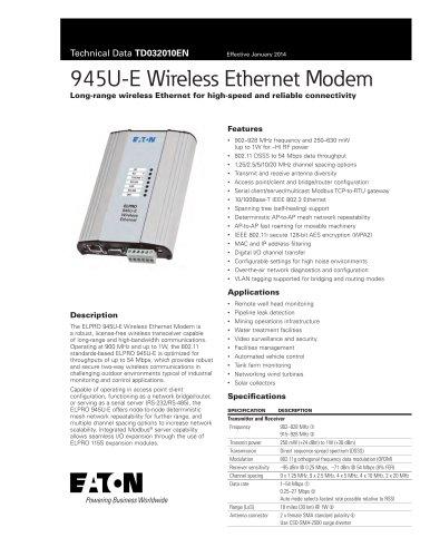 945U-E Wireless Ethernet Modem