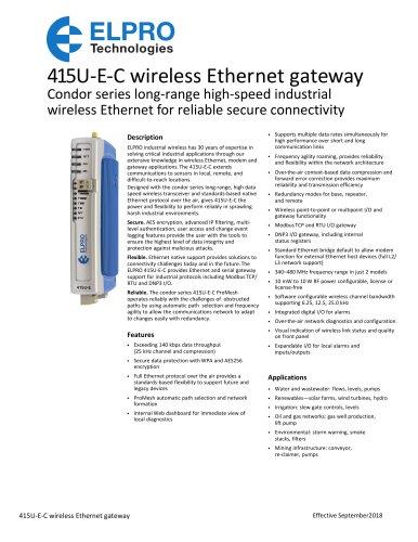 Condor Series 415U-E Wireless Ethernet Router