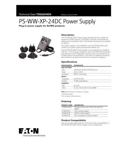PS-WW-XP-24DC Power Supply