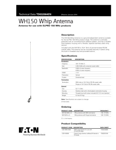 WH150 Whip Antenna
