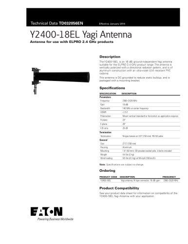 Y2400-18EL Yagi Antenna
