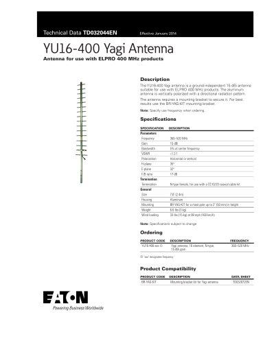 YU16-400 Yagi Antenna