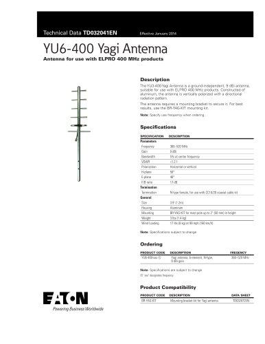 YU6-400 Yagi Antenna