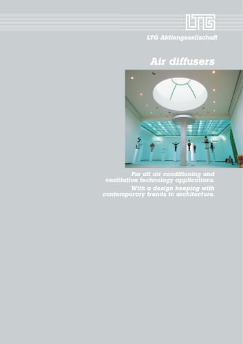 Air Diffusers for all air conditioning and ventilation technology applications