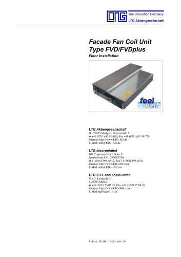 Facade fancoil unit FVD