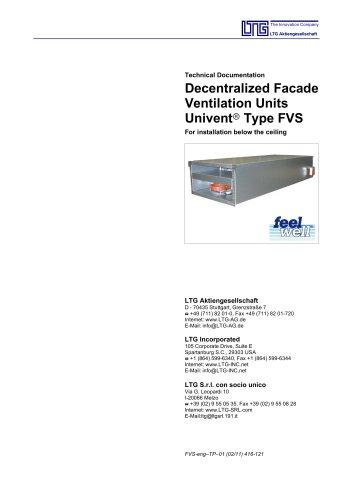 Facade fancoil unit FVS