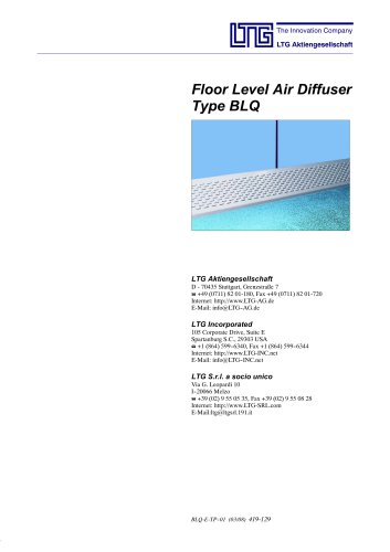 Floor mounted Air Diffuser Type BLQ