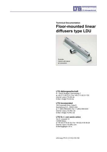 Floor mounted Air Diffuser Type LDU