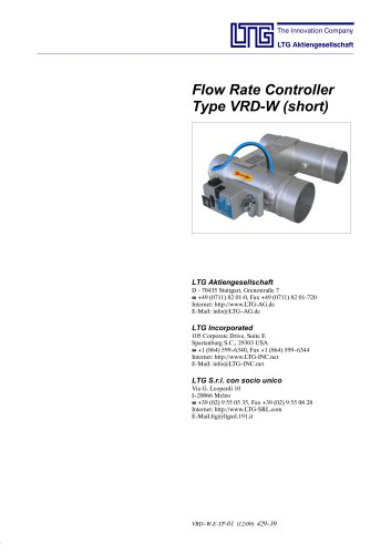 Flow-Rate Controller Type VRD-W