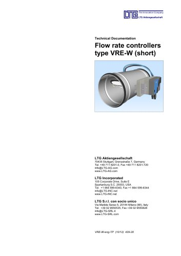 Flow-Rate Controller Type VRE-W