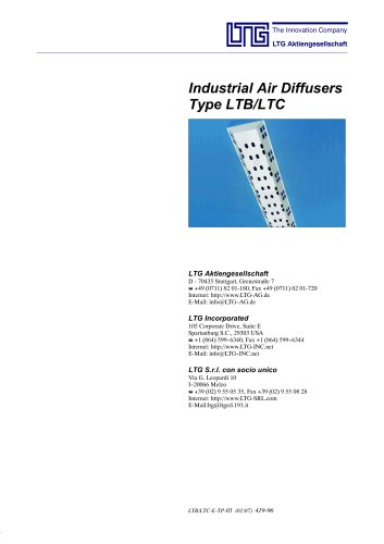 Industrial Air Diffuser Type LTB and LTC