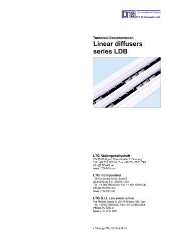 Linear Air Diffusers Type LDB und ?LTG System clean?