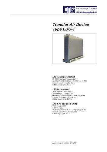 Transfer air device Type LDO-T