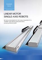 Linear motor single axis robots