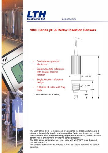 9000 Series    Insertion pH / Redox Electrodes
