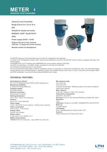 METER    Ultrasonic Level Transmitter
