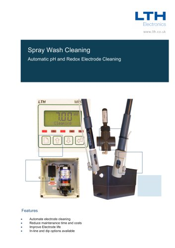 Spray wash system for pH & Redox Electrode Systems