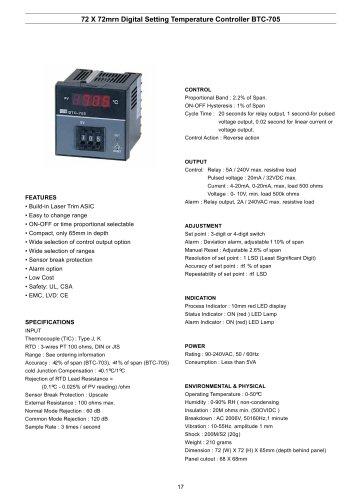 Digital Temperature Controller BTC-705