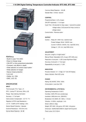 Digital Temperature Controller/Indicator