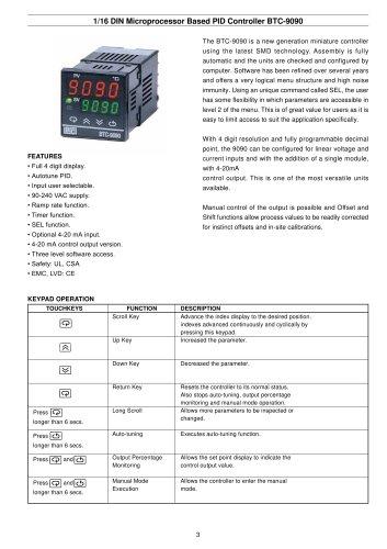 PID Controller BTC-9090