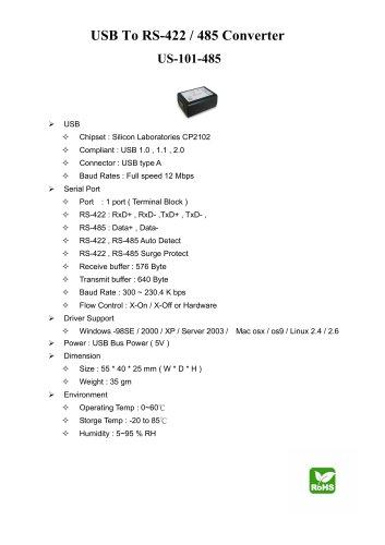 USB - RS422/485 Converter