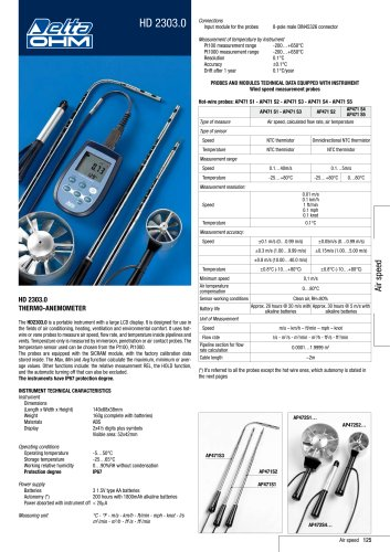 HD 2303.0 THERMO-ANEMOMETER
