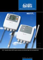 Transmitter, indicator, ON/OFF regulator, temperature and humidity data logger with interchangeable probe