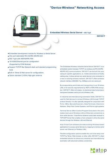 Embedded Wireless Serial Server-SW1001T