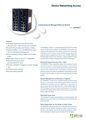 Industrial Managed Ethernet Switch-EH6508G-F