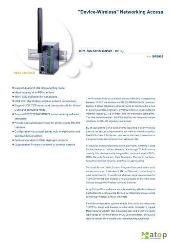 Wireless Serial Server- SW5002