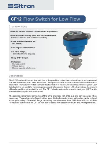 CF12Flow Switch for Low Flow