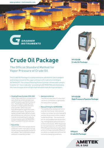 CRUDE OIL PACKAGE