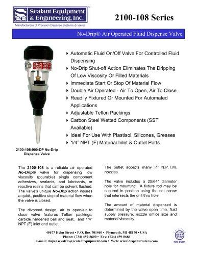 2100-108 Series No-Drip Dispense Valves