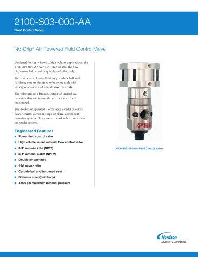 2100-803 Series No-Drip Fluid Control Valves