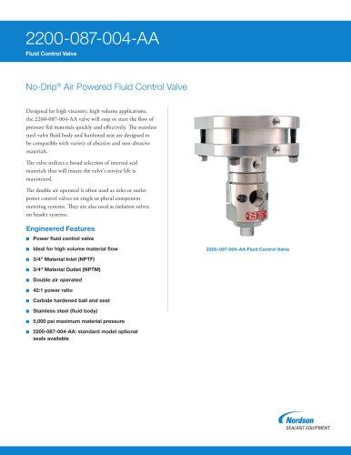 2200-087 Series No-Drip Fluid Control Valves