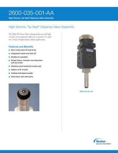 2600-035 Series Tip-Seal Dispense Valves