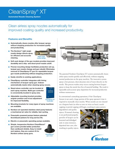 CleanSpray® XT Automated Nozzle Cleaning Systems
