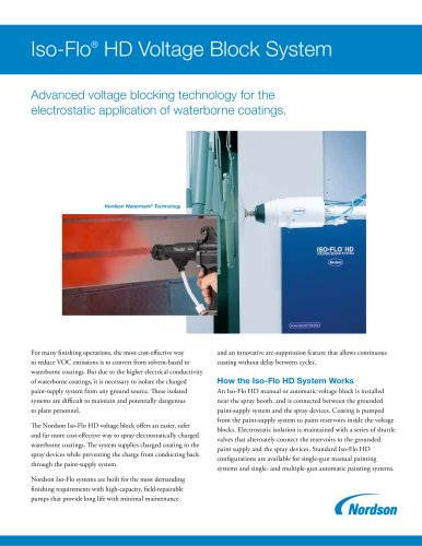 Iso-Flo® HD Voltage Block System for Waterborne Applications