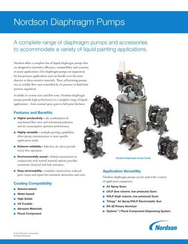Nordson Diaphragm Pumps