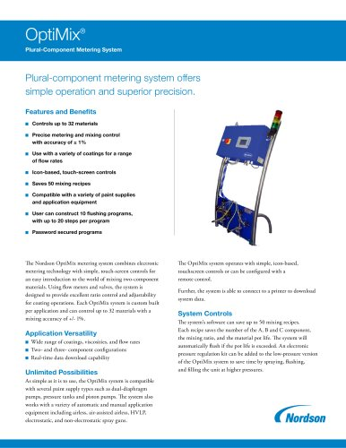Optimix Plural Component Metering System