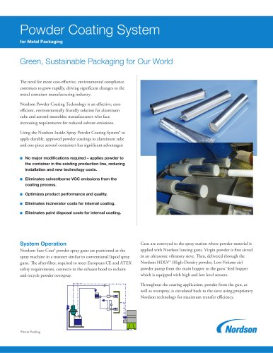 Powder Coating Systems for Metal Packaging