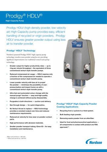 Prodigy® HDLV® High Capacity Pump