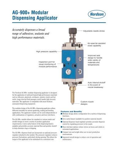 AG-900+ Modular Dispensing Applicator